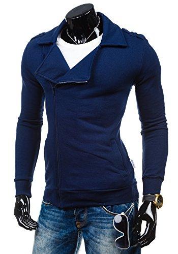BOLF – Sweat-shirt – Fermeture éclair– STX HUGO – Homme Bleu foncé