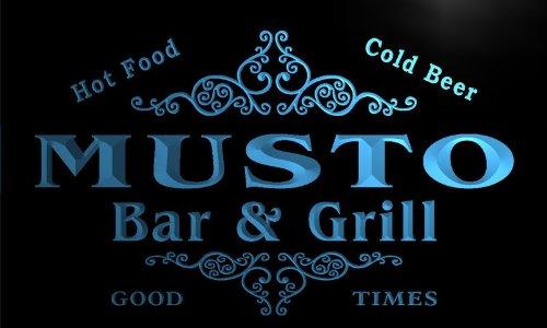 Preisvergleich Produktbild u31866-b MUSTO Family Name Bar & Grill Home Brew Beer Neon Sign Barlicht Neonlicht Lichtwerbung