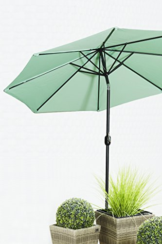 Gartenfreude Sonnenschirm, Durchmesser 270 cm, UV 50+, 270 x 270 x 245 cm, grün