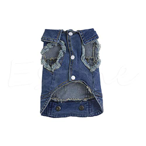 Fashion Apparel Hunde-Jacke, Denim, ärmellos XS Ärmellose Denim-jacke