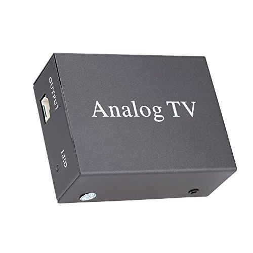 KKmoon Super Mini Metalldesign DVB-Auto-DVD-TV-Empfänger einfache Installation Monitor Analog TV-Tuner starke Stellwerk mit Antenne