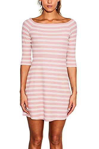 ESPRIT Damen Kleid 047ee1e008 Mehrfarbig (Old Pink 680)
