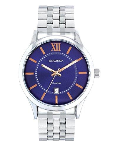 Sekonda pour homme Cadran bleu Bracelet de montre