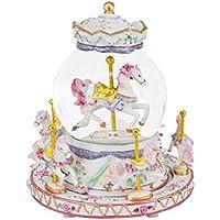 Caja de Música de Cristal Caja de Música de Carrusel de Lujo con Castillo en el Cielo Juguete Creativo Decoración para el hogar regalos de cumpleaños para niños y niñas