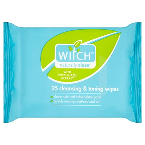 6 x Witch Naturally Clear 25 Cleansing & Toning Wipes - Toning Wipes