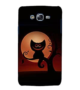 printtech Alice Wonderland Cat Back Case Cover for Samsung Galaxy E5 / Samsung Galaxy E5 E500F