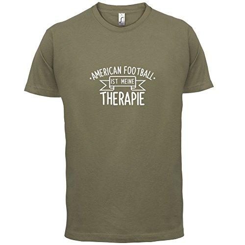 American Football ist meine Therapie - Herren T-Shirt - 13 Farben Khaki