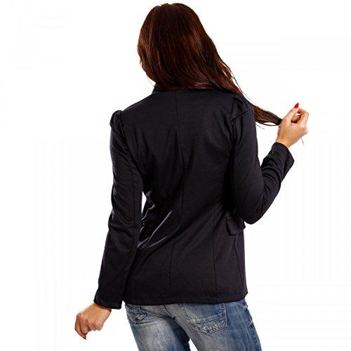 Made Italy - Veste de tailleur - Uni - Manches Longues - Femme Bleu