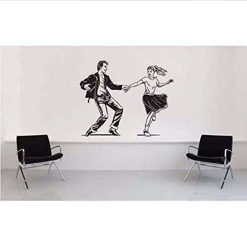 Jasonding Pudel Rock Niedlich Wandtattoo Saddle Shoes Der 1950Er Jahre Stil Kunst Wandaufkleber Jitterbug Home Livinroom Decor Vinyl Tapete56 * 69Cm