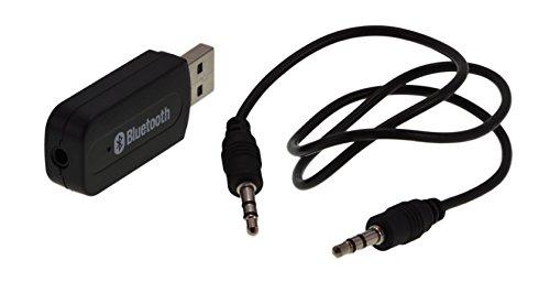 Bluetooth-USB-Adapter mit 3,5 mm Klinkenanschluss perfekt als Bluetootherweiterung für Ihr Autoradio, Ihren PC, Ihre Stereoanlage u.v.m. / perfekt für Android wie Samsung, Sony Z, HTC, LG, Motorola oder iOS 9, iPhone 5, 5c, 5s, 6, 6s, 6 Plus, 6s Plus / Ideal für Audioübertragung / in schwarz von ELTO