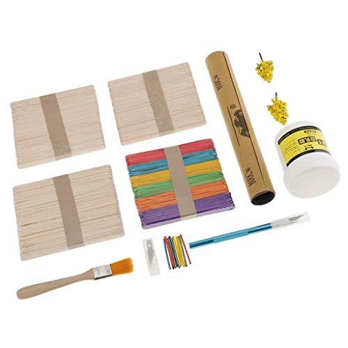 FashLady Lollipop Ice Cream Stick Model Wooden Model Building DIY Cabin for Kids Crafts Children Toys Hobbies