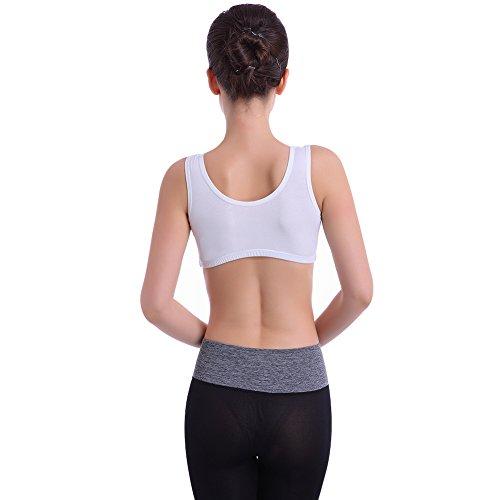 zrong femmes soutien-gorge de sport Yoga d'exercice Fitness Course à Pied Jogging pour Femme Blanc - Blanc