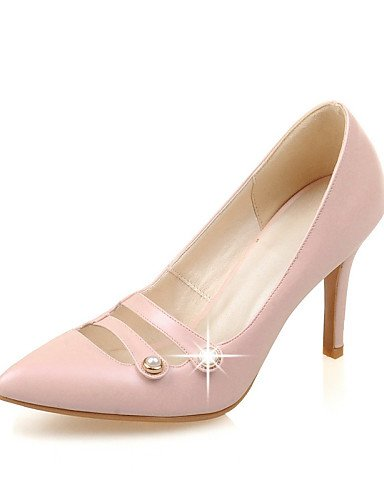 WSS 2016 Chaussures Femme-Habillé / Décontracté-Noir / Rose / Rouge / Beige-Talon Aiguille-Talons / Bout Pointu-Talons-Similicuir pink-us3.5 / eu33 / uk1.5 / cn32