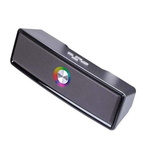 M008 LED Bluetooth Lautsprecher, Nachtlicht wechseln den drahtlosen Lautsprecher, MIANOVA Tragbare drahtlose Bluetooth Lautsprecher 6 Farbe LED Themen, Freisprecheinrichtung/Telefon/PC,ironash