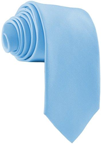 ADAMANT Corbatas de Hombre anchas, diferentes colores - Corbata ancha original (Azul Claro)