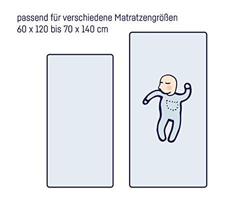 Julius Zöllner 8320113340 – Spannbetttuch Jersery für Kinderbett, Größe: 60 x 120 cm/70 x 140 cm, Farbe: grün - 3