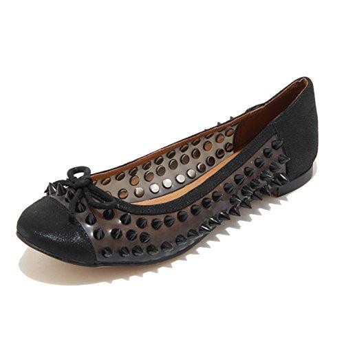 3240I ballerine donna nere JEFFREY CAMPBELL astair spike scarpe shoes women [39]