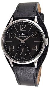 Axcent of Scandinavia Axcent of Scandinavia - Reloj analógico de cuarzo unisex con correa de piel, color negro de Axcent  of Scandinavia