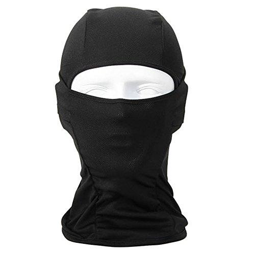 OneTigris-Passamontagna/Maschera di protezione viso completo in Lycra per ciclismo sci moto in estate o Inverno, nero, 45.7 x 25.4cm/18 x 10inch (L x L)