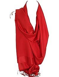 Double soie réversible bicolore Wrap Echarpe étole châle Hijab tête foulards ac5edadaca5