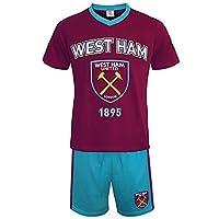 West Ham United FC Official Football Gift Mens Loungewear Short Pyjamas Large