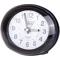 Trevi SL 3052 Quartz table clock Ovalado Negro, Color blanco - relojes de mesa (Analógico, Azul, AA)