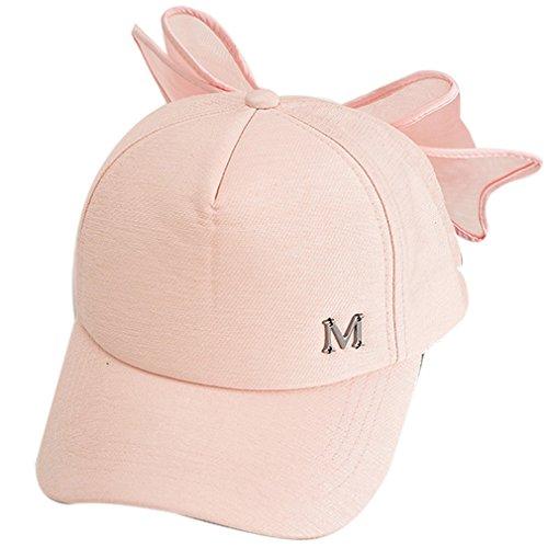 Belsen Damen Schöne Vaterschaft Baseball Hüte Große Bogen Kappen Cap (Adult Rosa) (Japanische Baseball-hüte)
