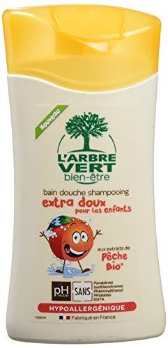 L'Arbre Vert Bien-Etre Bain Douche Shampooing Extra Doux pour les Enfants aux Extrait de Pêche