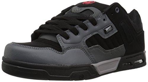DVS Men's Enduro Heir Skate Shoe, Charcoal Black Nubuck, 10 UK
