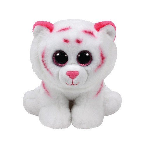 TY - Beanie Babies Tabor, tigre, 15 cm, color blanco / rosa (United Labels Ibérica 42186TY)