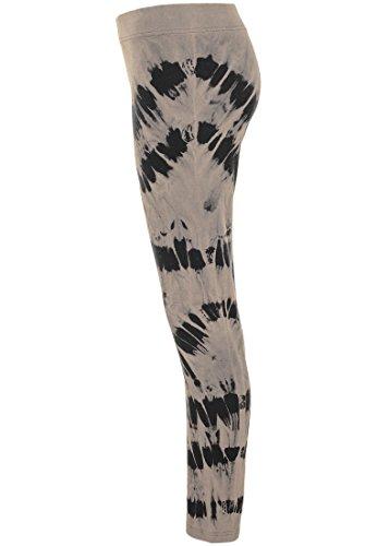 Urban Classics Damen Leggings Acid Wash Splash blk/beige