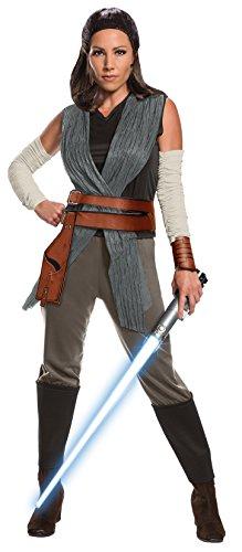 tar Wars Die letzten Jedi Rey Damen Erwachsene Kostüm, große UK 14–16 (Rey Kostüm Damen)