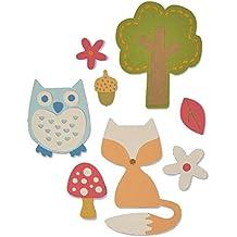 "Set fustelle Thinlits Sizzix ""Woodland set by My life Handmade"", multicolore, confezione da 12"