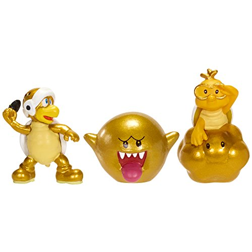 Nintendo Figur Micro 3er Pack W3-Gold Lakitu,Gold