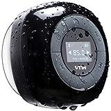 VicTsing Relaxer Altoparlante Bluetooth 4.0 Speaker da Doccia con Microfono Incorporato Radio FM Schermo LCD Ventosa per Doccia/Bagno/ Casa/Esterno Compatabile con iPhone e Android Smartphone, Nero