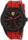 Scuderia Ferrari Herren Analog Quarz Uhr mit Silikon Armband 830539