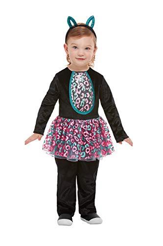 Schwarze Kostüm Kleinkind Katze Für - Smiffys 61128T2 Katzen-Kostüm für Kleinkinder, Mädchen, Schwarz, Alter 3-4 Jahre