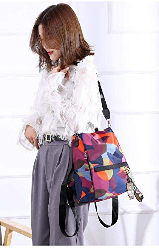 MOCA Women's Nylon Mini Small Anti-Theft Rucksack Travel Backpack (Multicolour) Image 4