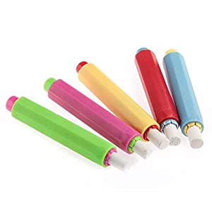 StillCool Chalk Holders for Kids Chalk Chalk Clip Set Come with 5 White Chalks Colorful