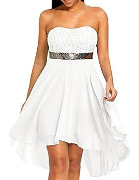 Vestiti donna, Sysnant Vestito Mini abito con spalle scoperte Beach Party Dress Lungi Abito Donna Eleganti da...