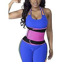 YIANNA Waist Trimmer for Weight Loss Adjustable Slimming Belt Belly Fat Burner Waist Trainer Sweat Belt for Men&Women