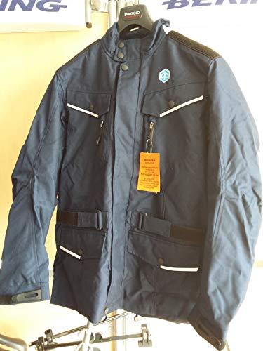 605444M04P Jacke blau Motorrad AIRBAG PIAGGIO DEMO GRÖSSE L CORDURA