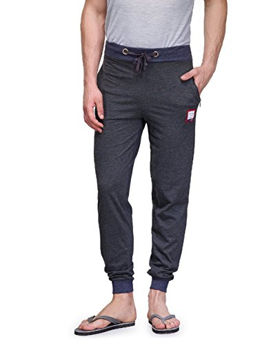 Superior FeelBlue Men's Cotton Track Pant (Deep Grey) (Medium)