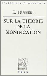 Leçons sur la théorie de la signification