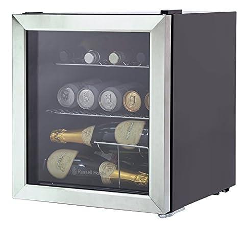 Russell Hobbs RHGWC3SS Glass Door Bottle & Drinks Cooler, Stainless Steel [Energy Class A+]