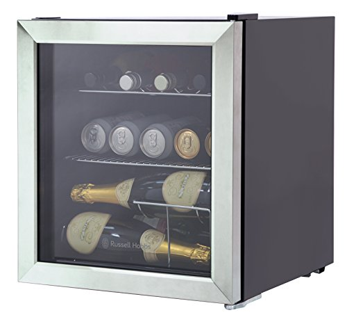 Russell Hobbs RHGWC3SS Glass Door Bottle & Drinks Cooler, Stainless Steel [Energy Class A+] Best Price and Cheapest
