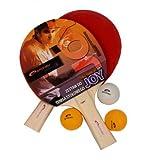 Tischtennis Joy Set (Einsteigerset: 2x Schläger, 3x Ball)