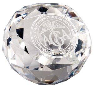 Diamantschliff Glas Award Briefbeschwerer -