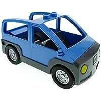 Preisvergleich für Bausteine gebraucht 1 x Lego Duplo Auto medium hell blau neu-dunkel grau Wagen Van für Set 4966 9207 9225 4354c02