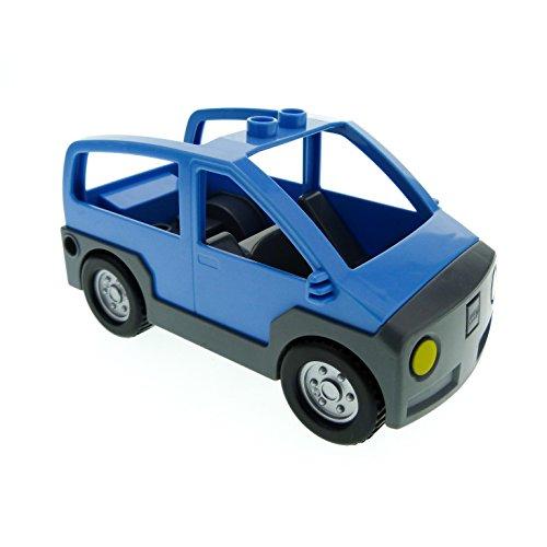 Bausteine gebraucht 1 x Lego Duplo Auto medium hell blau neu-dunkel grau Wagen Van für Set 4966 9207 9225 4354c02